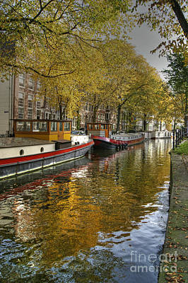 Photograph - Autumn Colour In Amsterdam by David Birchall