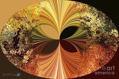 Digital Art - Autumn Colours Abstract by J McCombie
