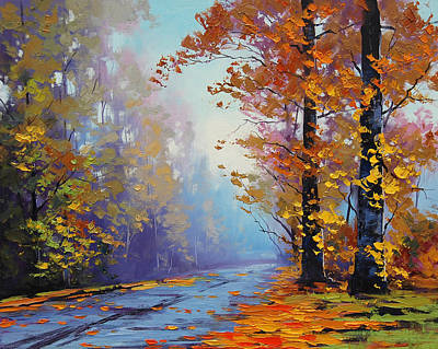 Elm Painting - Autumn Colours by Graham Gercken