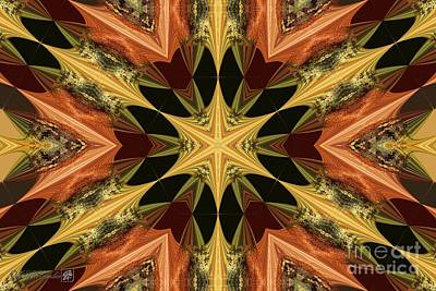Digital Art - Autumn Colours Kaleidoscope by J McCombie