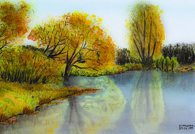 Drawing - Autumn Colours by Svetlana Sewell