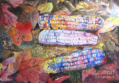Painting - Autumn Corn by Sandy McIntire