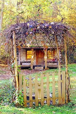 Autumn Cottage Art Print by Diane Merkle