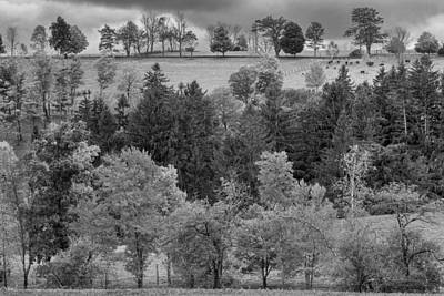 Farm Scenes Photograph - Autumn Country Bw by Bill Wakeley