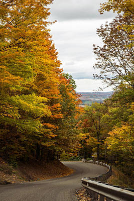 Photograph - Autumn Country Drive In Pennsylvania  by Terry DeLuco