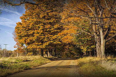 Photograph - Autumn Country Gravel Road In Southwest Michigan by Randall Nyhof