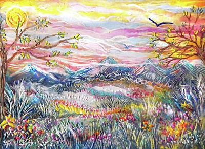 Autumn Country Mountains Art Print