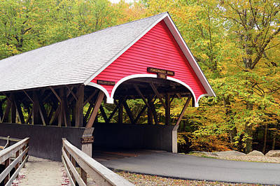 Photograph - Autumn Covered Bridge by James Kirkikis
