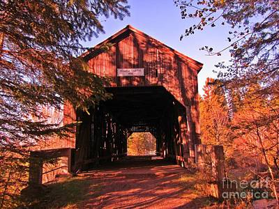 Wild And Wacky Portraits - Autumn Covered Bridge by John Malone