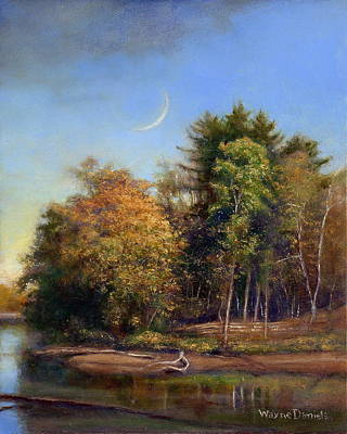 Print featuring the painting Autumn Crescent by Wayne Daniels