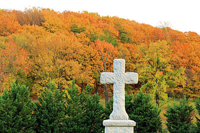 Photograph - Autumn Cross by Cora Wandel