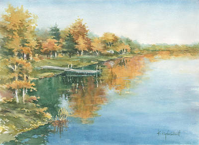 Painting - Autumn Crow Wing River by Kerry Kupferschmidt