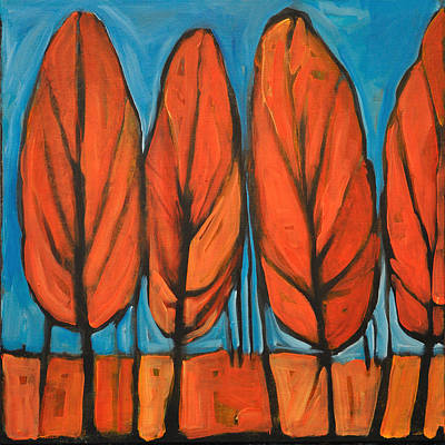 Tim Painting - Autumn Dance by Tim Nyberg