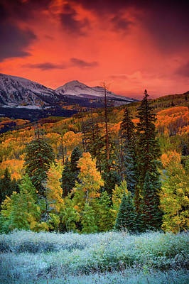 Photograph - Autumn Dawn  Over Kebler Pass by John De Bord