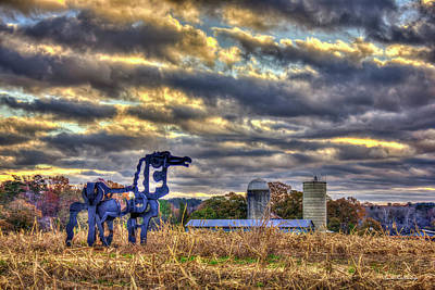 Photograph -  Autumn Dawn The Iron Horse Collection Art by Reid Callaway