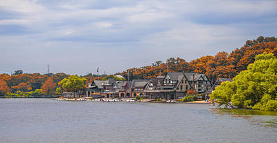 Autumn Day - Boathouse Row Art Print