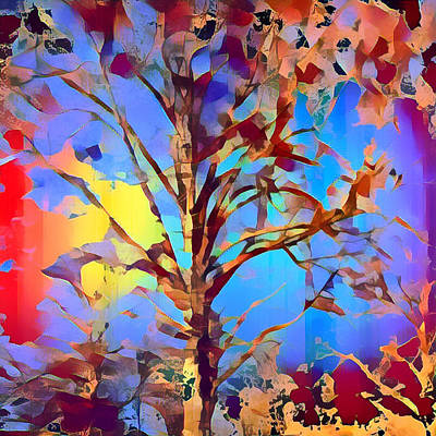 Mixed Media - Autumn Day by Femina Photo Art By Maggie