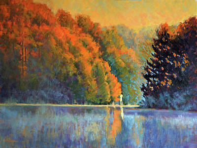 Autumn Day Rising Original by Keith Burgess