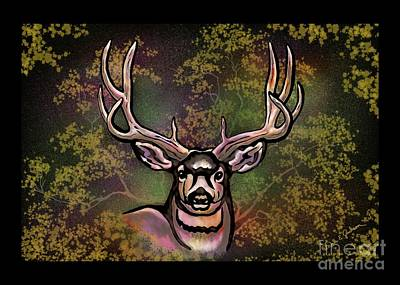 Digital Art - Autumn Deer Abstract by Dale E Jackson