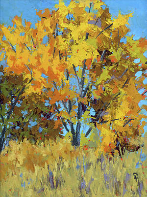 Autumn Landscape Painting - Autumn Delight by David King