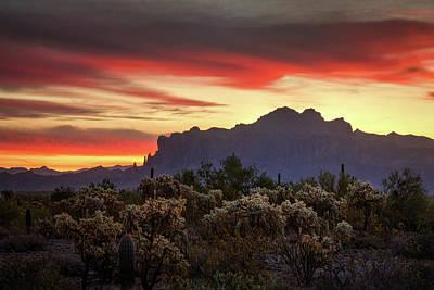 Photograph - Autumn Desert Skies  by Saija Lehtonen