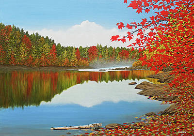 Painting - Autumn Dream by Kenneth M Kirsch