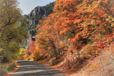 Photograph - Autumn Drive In Logan Canyon by Donna Kennedy