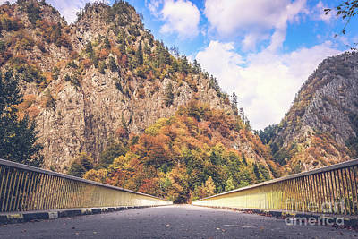Photograph - Autumn Drive In The Mountains by Claudia M Photography