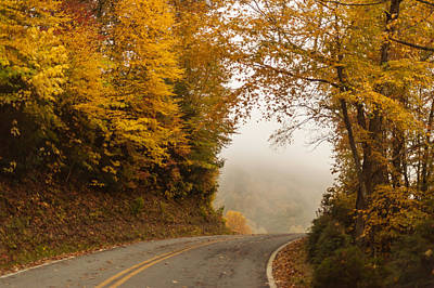 Photograph - Autumn Drive North Carolina by Terry DeLuco