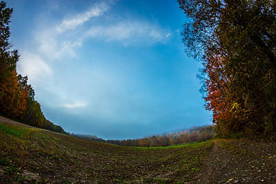Photograph - Autumn Empty Field by Chris Bordeleau