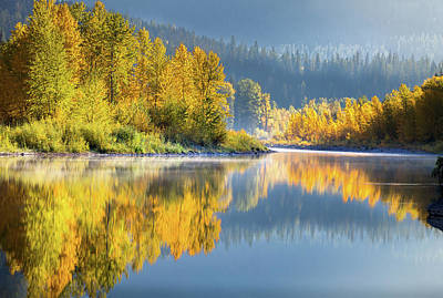 Photograph - Autumn Equinox // Middle Fork Of Flathead River, Glacier National Park  by Nicholas Parker