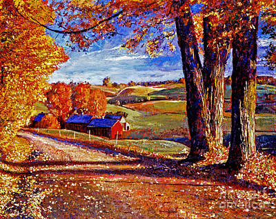 Americana Painting - Autumn Evening by David Lloyd Glover