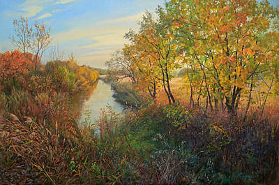 Painting - Autumn Evening by Galina Gladkaya