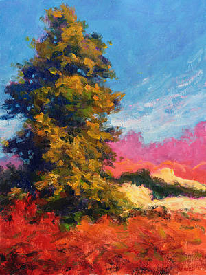 Painting - Autumn Evergreen  by Vernon Reinike