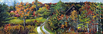 Painting - Autumn Explosion In Vermont by Nancy Griswold