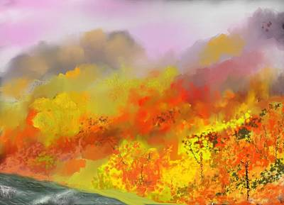 Digital Art - Autumn Expression by David Lane