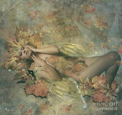 Digital Art - Autumn Fairy by Ali Oppy