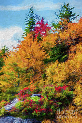 Autumn Fall Colors - Autumn Viaduct Ap Art Print