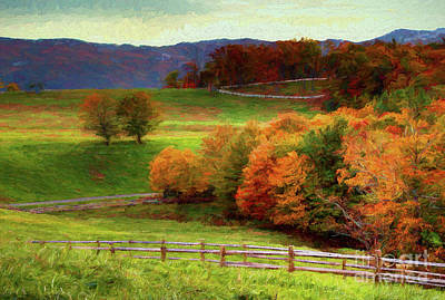 Painting - Autumn Fall Colors Blue Ridge Brilliance Ap by Dan Carmichael