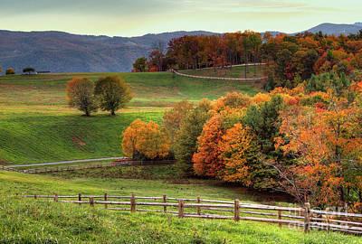 Photograph - Autumn Fall Colors Blue Ridge Brilliance by Dan Carmichael