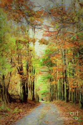 Painting - Autumn Fall Colors - Blue Ridge Country Road Ap by Dan Carmichael