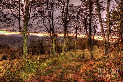 Photograph - Autumn Fall Colors - Blue Ridge Doughton Sunrise by Dan Carmichael