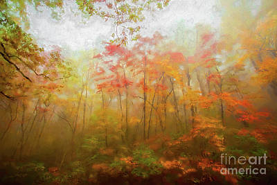 Painting - Autumn Fall Colors - Dazzling Color In The Blue Ridge Ap by Dan Carmichael