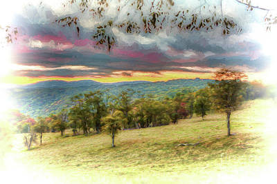 Painting - Autumn Fall Colors - Early Morning In The Blue Ridge Ap by Dan Carmichael