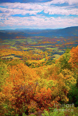 Painting - Autumn Fall Colors In The Arnold Valley Ap by Dan Carmichael