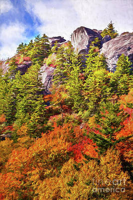 Painting - Autumn Fall Colors - Pretty Peak Ap by Dan Carmichael