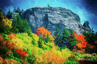 Autumn Fall Colors - Rocks And Colorful Trees Ap Art Print