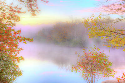 Photograph - Autumn Fall Colors - Soft Sunrise In The Blue Ridge by Dan Carmichael