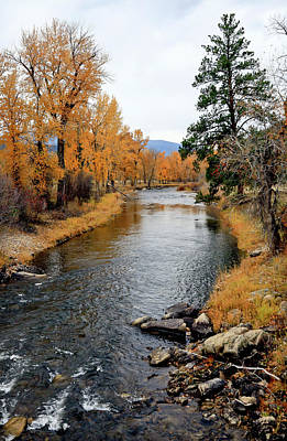 Photograph - Autumn Fall River by Athena Mckinzie