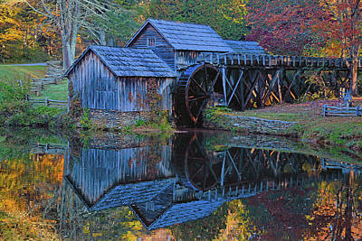 Photograph - Autumn At Mabry Mill by Ben Prepelka